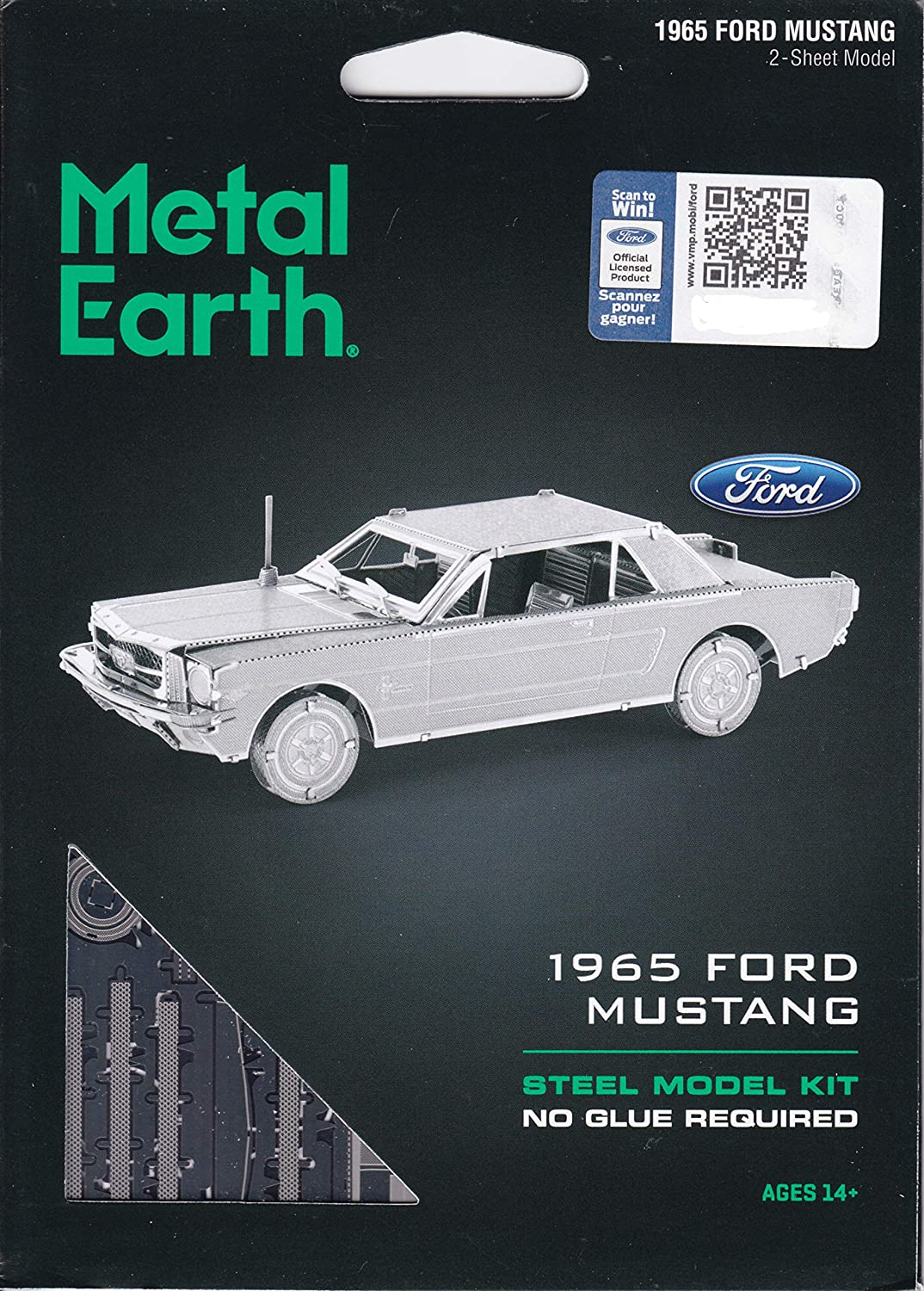 Ford 1965 Mustang Coupe 50 Teile 3D-Metallbausatz Metal Earth 1056