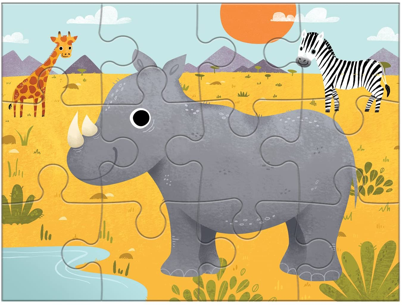 Animals of the World 4-in-a-Box Puzzle - A2Z Science ...