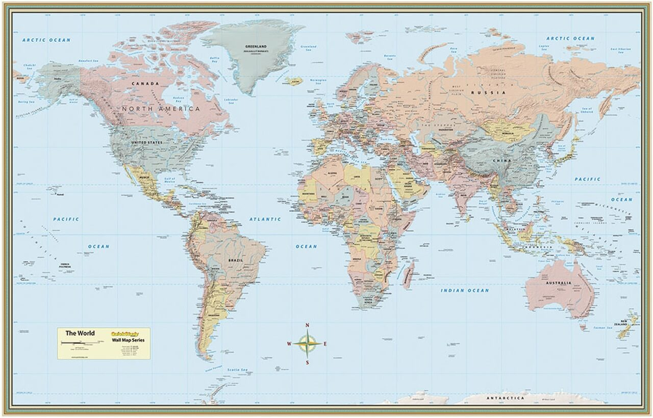 Picture of: Quickstudy World Map Laminated Poster A2z Science Learning Toy Store